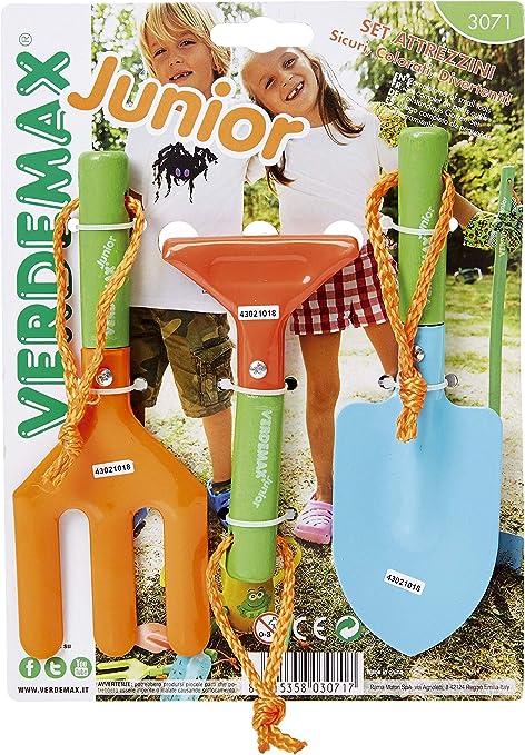 Verdemax 3071 jardín, Mango Corto Juego de Herramientas para niños (3 Piezas): Amazon.es: Jardín