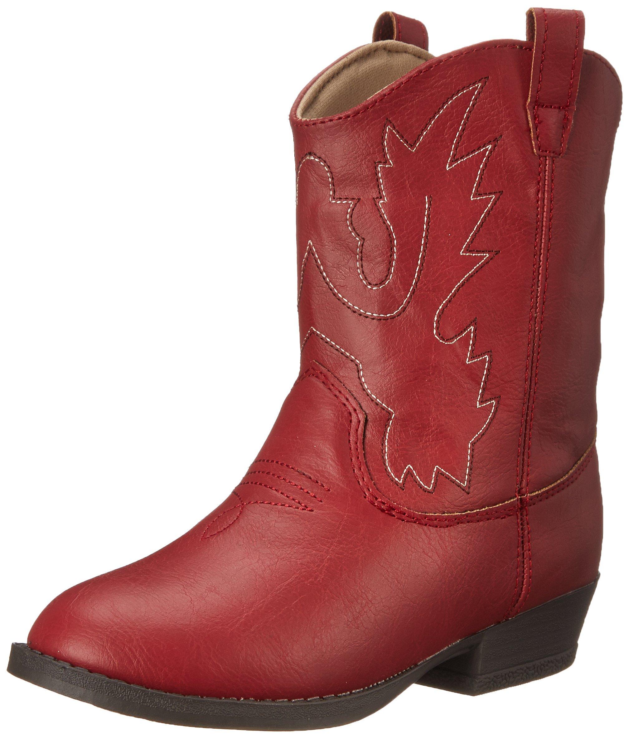 Baby Deer Western Boot (Little Kid), Red, 12 M US Little Kid