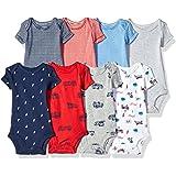 Carter's Baby Boys' 8 Pack Short-Sleeve Bodysuits