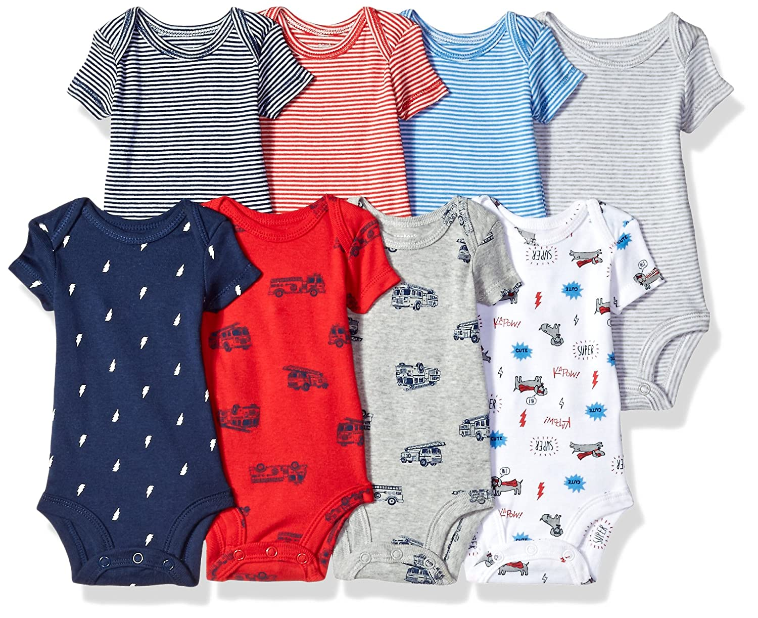 Carters Baby Boys 8-Pack Short-Sleeve Bodysuits
