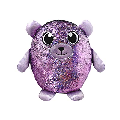 "SHIMMEEZ, Large Size Benjie Bear, Sequin Plush Stuffed Animal, 14"", 3.5"": Toys & Games"