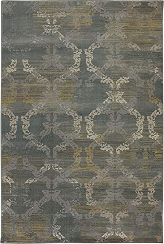 5 x8 Ashley Moss Modern Grey Coastal Contemporary Area Rug – 5 3 W X 7 10 L