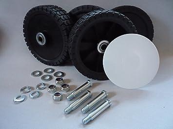 Cortacésped 4 ruedas 150 mm x 38 mm universal Ruedas Cortacésped con rodamiento de bolas y