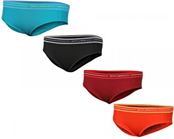0cc87c3e0be6d3 BRUBECK® SET / 4x HI10190 ACTIVE WOOL Damen Hipster Slip | Merino |  Funktional | Sportslips | Fitness | Funktionswäsche | verschiedene Farben