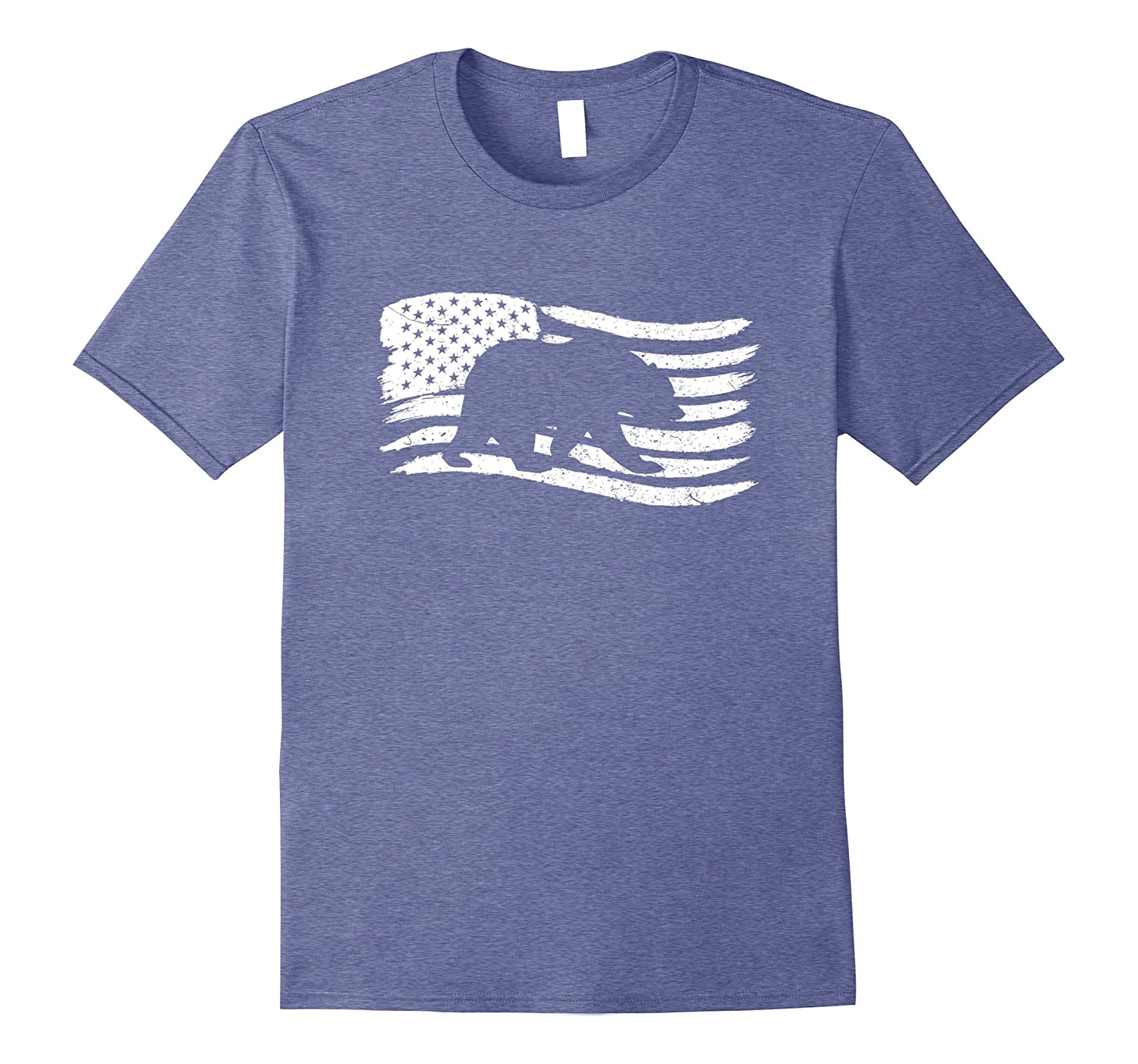 American Flag For Day Independence T-Shirt With Bear-PL