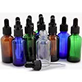 Vivaplex, 12, Assorted Colors, 1 oz Glass Bottles, With Glass Eye Droppers