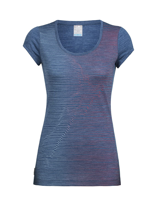 Icebreaker Merino Sphere Lightweight Short Sleeve Scoop Neck Shirt, New Zealand Merino Wool