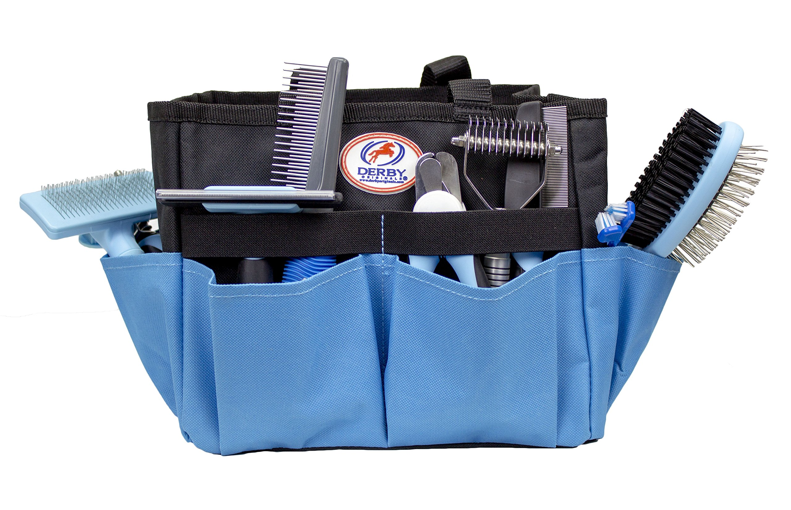 cuteNfuzzy 11 Piece New Pet Small or Large Grooming Starter Kits in 2 Colors for Dogs & Cats, Blue, Large
