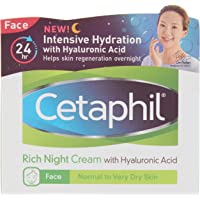 Cetaphil Rich Night Cream with Hyaluronic Acid, 48 g