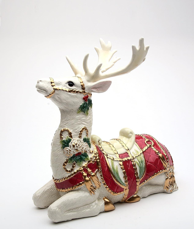 Cosmos Gifts 10678 Christmas Fantasia Sitting Reindeer Figurine