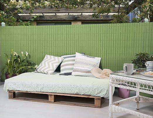 Cercado/Ocultación MADERA COMPOSITE pintado en VERDE TILO. 1mx2,50 m. Marca: B Cottage Decor, 1x2,50 m.: Amazon.es: Jardín