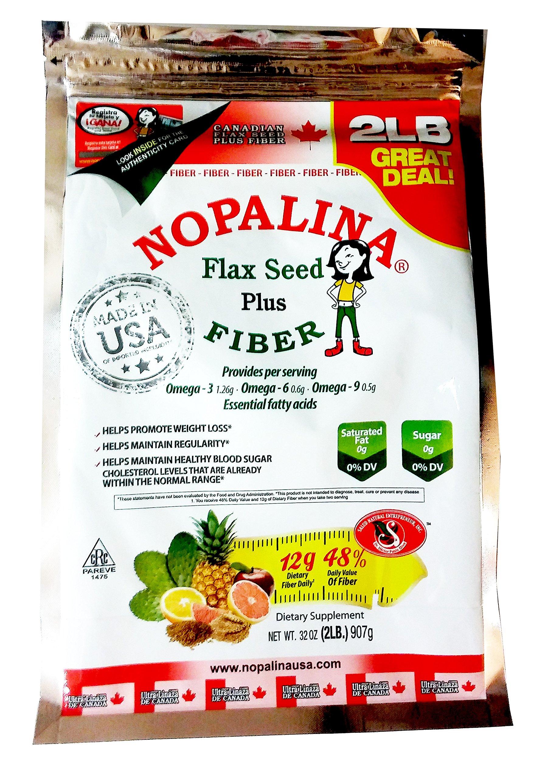 Nopalina Flax Seed Plus Fiber 32 oz (2 lb) With Free Shaker