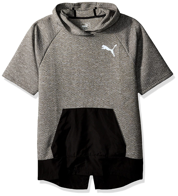 Puma Mens Wintech Fleece Short Sleeve Hoodie Hooded Sweatshirt
