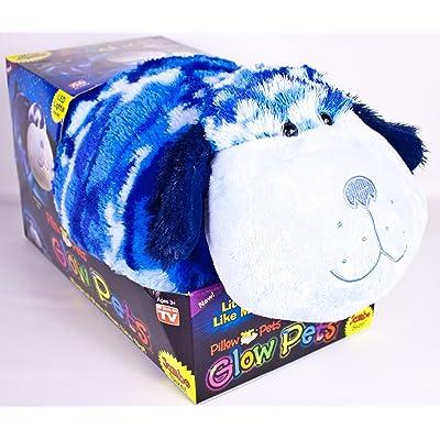 """Pillow Pets, 18"""" Jumbo Glow Pets, Blue Camo Dog: Toys & Games"""