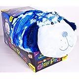 "Pillow Pets, 18"" Jumbo Glow Pets, Blue Camo Dog"