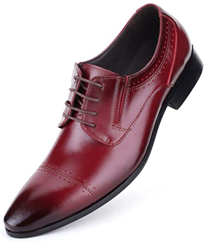 Mens Oxford Shoes Formal Leather Mens Dress Shoes - Men Wedding Shoes in A  Bag - 29ceaccafc01