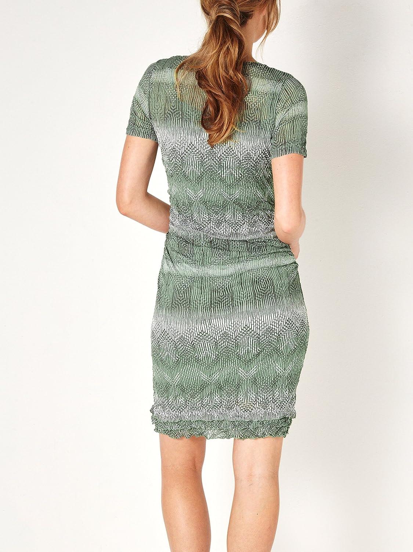 21312fc41f0e Sandwich Clothing - Fine Net Aztec Print Dress, Hedge Green, Small(UK10):  Amazon.co.uk: Clothing