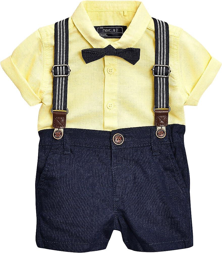 next Niños Conjunto De Camisa, Pantalones Cortos Y Pajarita (3 ...
