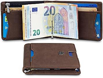 Travando Geldbeutel Männer Mit Geldklammer Athen Kartenetui Slim