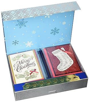 Amazon hallmark christmas handmade boxed assorted greeting hallmark christmas handmade boxed assorted greeting cards set pack of 24 holiday card m4hsunfo