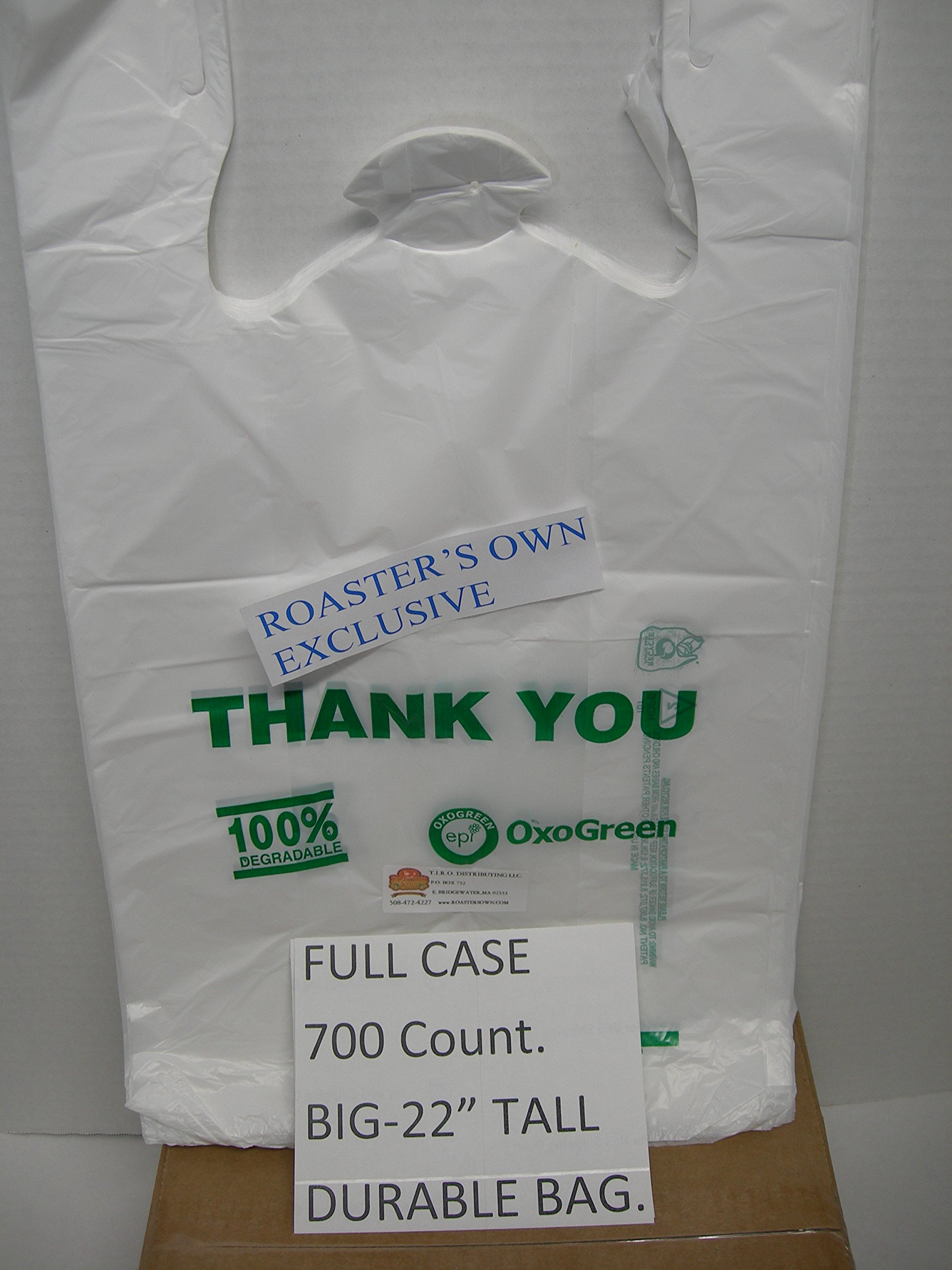 700 Count,100% Biodegradable BIG 12X7X22'' T-Shirt Bag DURABLE Dog poop Pet Waste Cloth Diaper Recyclable Eco.Great! Nice strong bags - As described - Fast shipping - Professional seller!