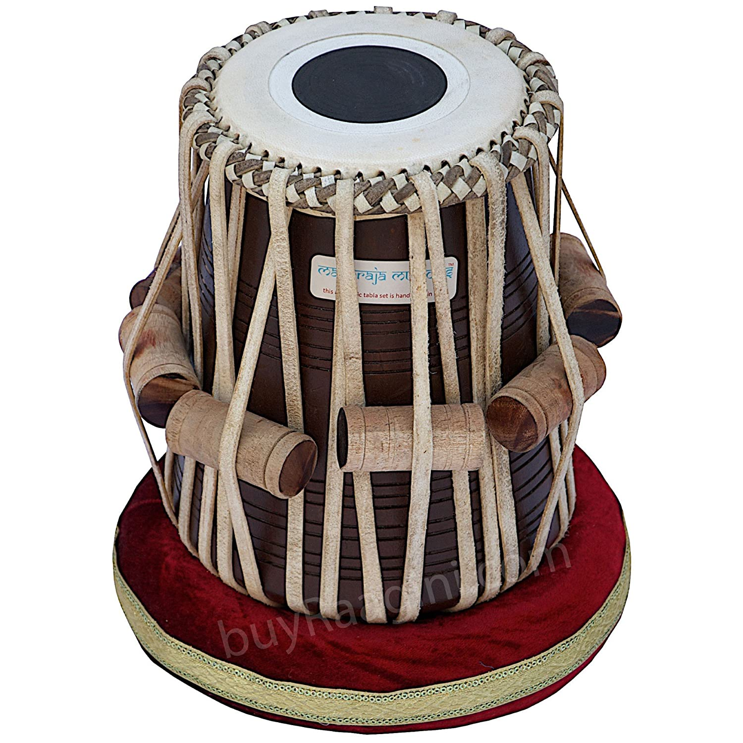 Amazon.com: Maharaja Musicals Tabla Drum Set, 4.5 Kg Copper Bayan - Ganesha Kalash Design, Sheesham Dayan, Tuneable To C Sharp, Padded Bag, Book, Hammer, ...