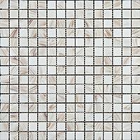 Mosaico de Vidrio en Malla DEC-74291AXU013, Blanco