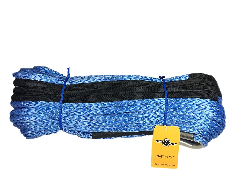 3//8 x 125 Diamond Winch Rope with Tube Thimble /… Custom Splice CECOMINOD093247