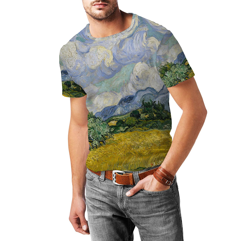 Vincent Van Gogh Fine Art Painting Mens Sport Mesh T-Shirt
