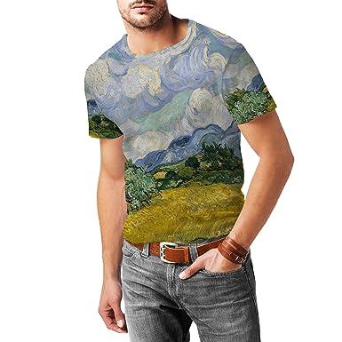5b3dac121 Vincent Van Gogh Fine Art Painting Mens Cotton Blend T-Shirt - XS:  Amazon.co.uk: Clothing