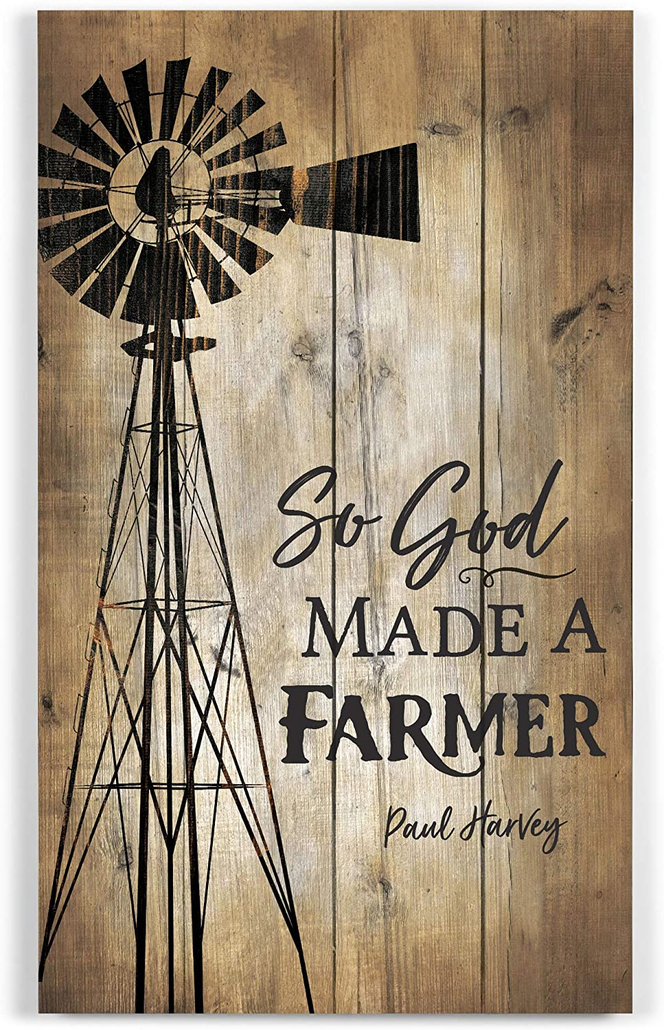 P. Graham Dunn So God Made a Farmer Distressed 14 x 24 Wood Pallet Wall Plaque Sign