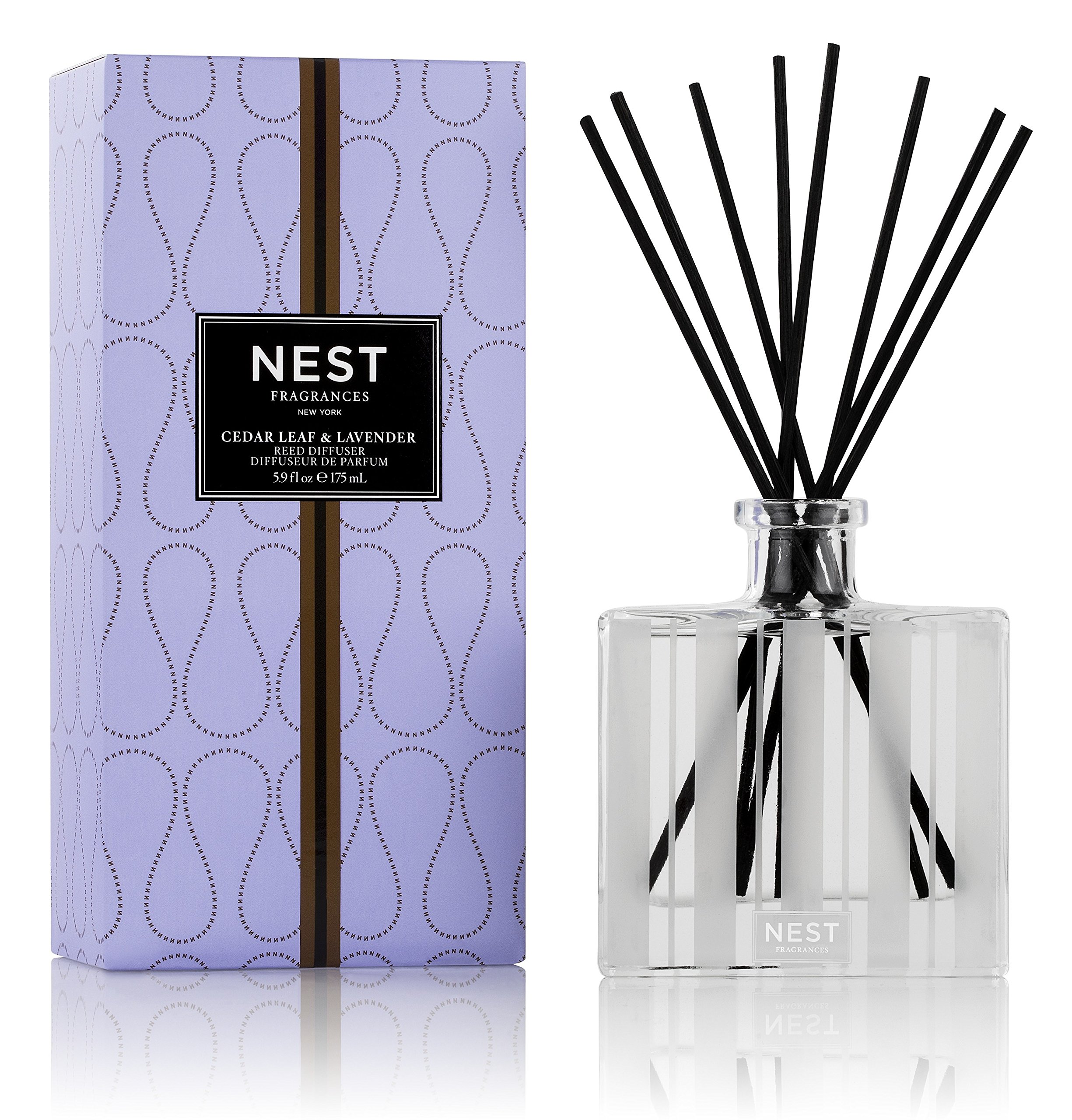 NEST Fragrances Reed Diffuser- Cedar Leaf & Lavender, 5.9 fl oz