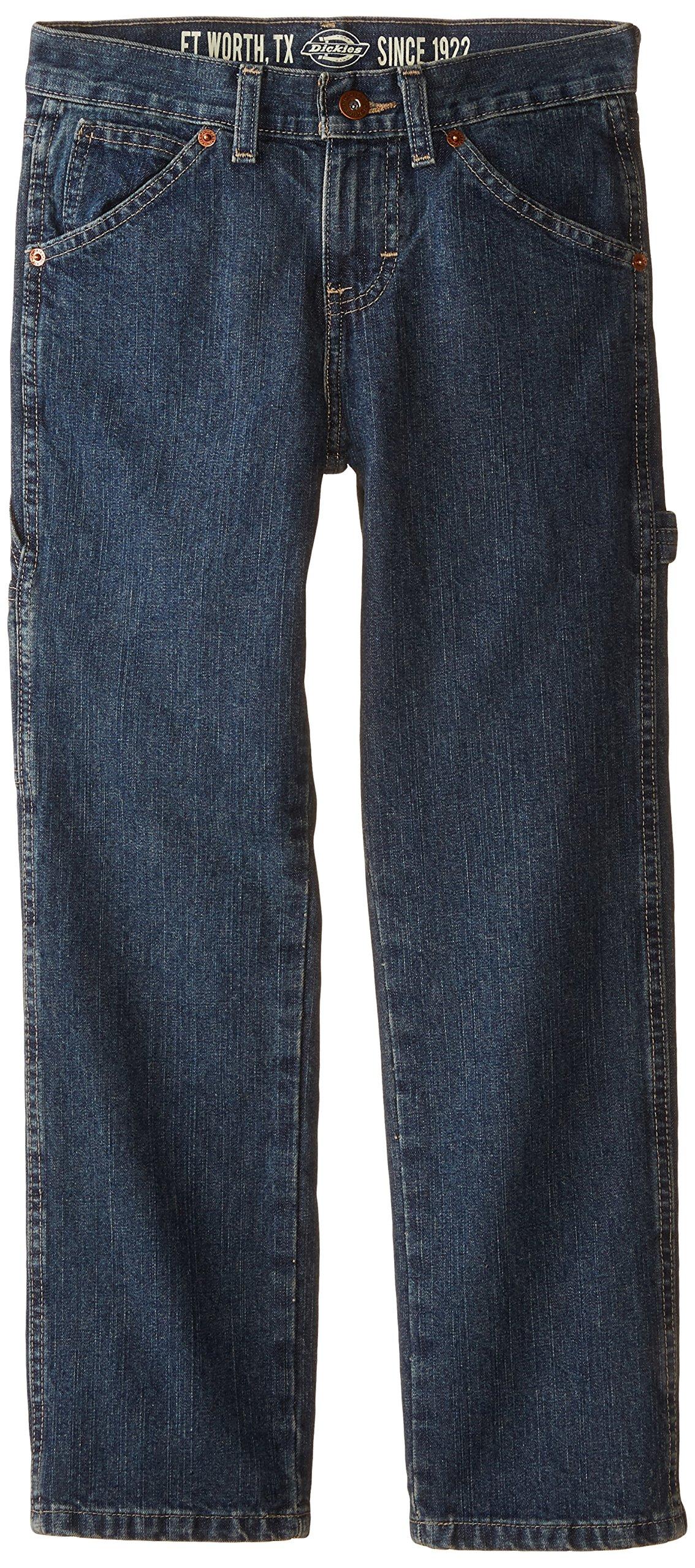 Dickies Big Boys' Denim Carpenter Jeans, Khaki Tint, 8