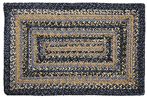 IHF Home Decor Braided Rug Rectangle Carpet 5 x 8 River Shale Design Jute Fiber