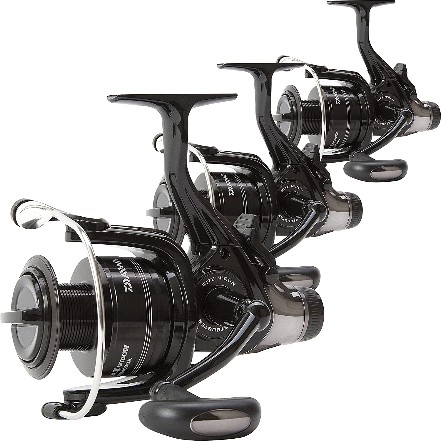 Daiwa Black Widow 4500 BR Front Drag Lightweight Set of 3 Carp Fishing Reels