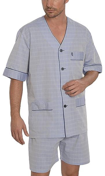 Pijama de Caballero | Pijama de Hombre de Manga Corta clásico a Rayas | Ropa de