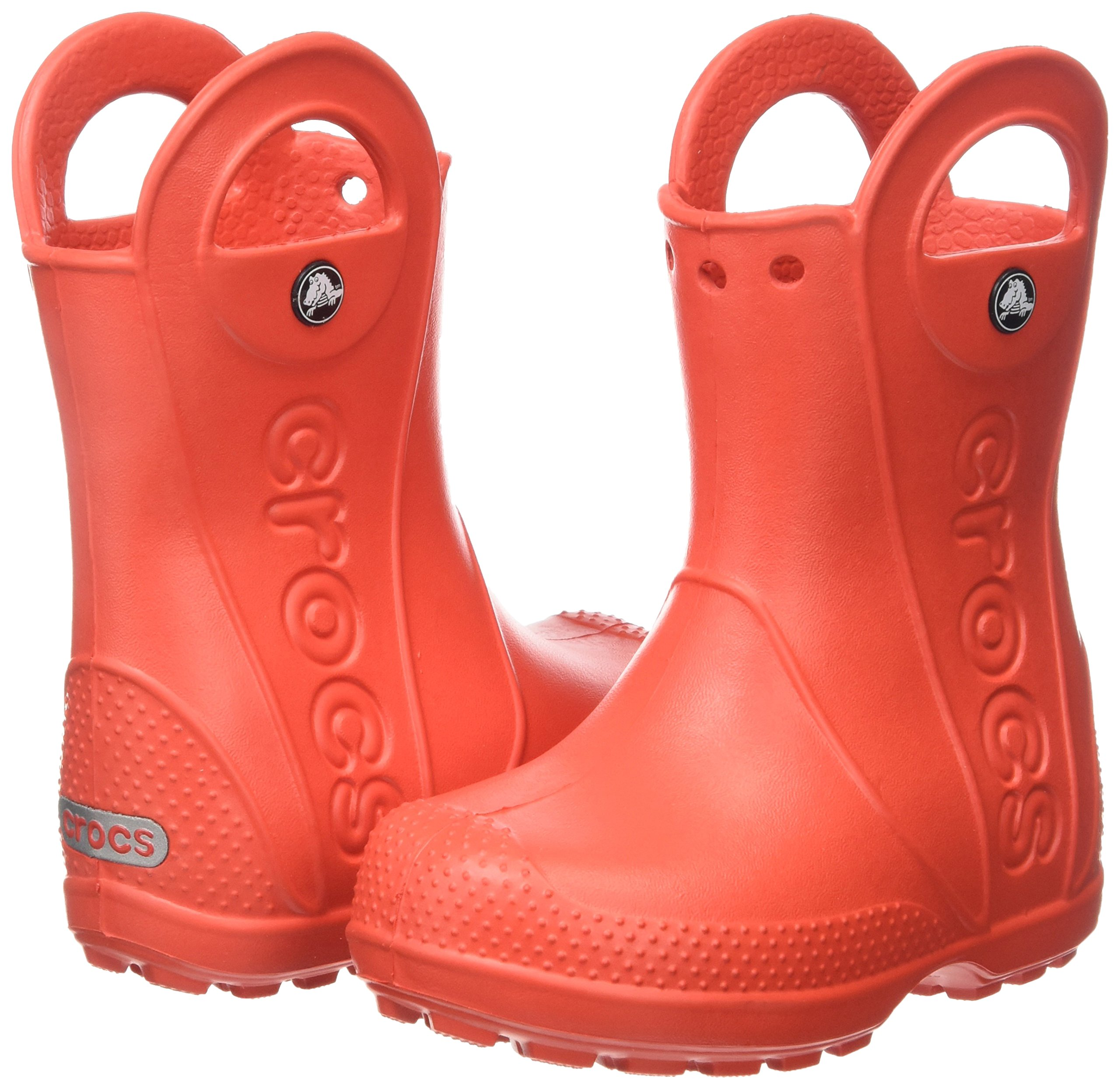 Crocs Kids' Handle It Rain Boot, Flame, 8 M US Toddler by Crocs (Image #5)