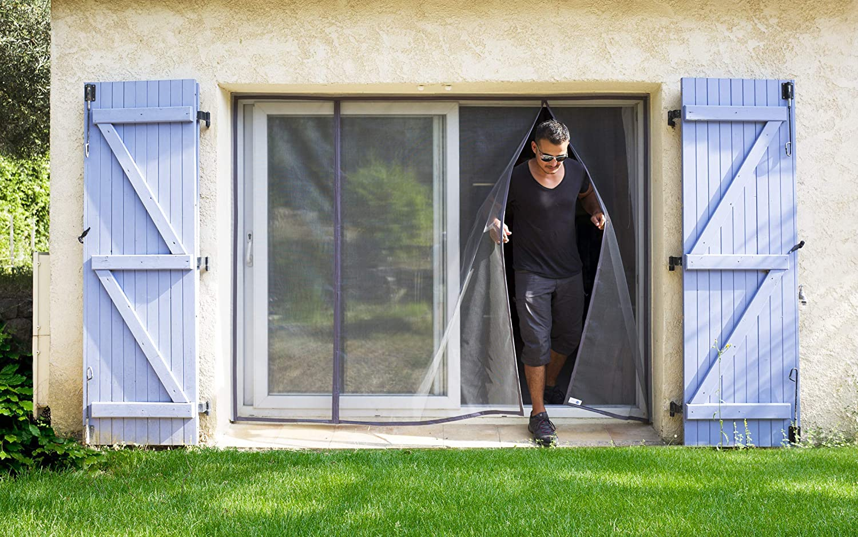 L 100//116 - H 217//225 Moustiquaire ajustable aimant/ée TRANQUILISAFE/® pour portes et portes fen/êtres moustiquaire porte fen/être automatique moustiquaire magn/étique compatible chati/ère