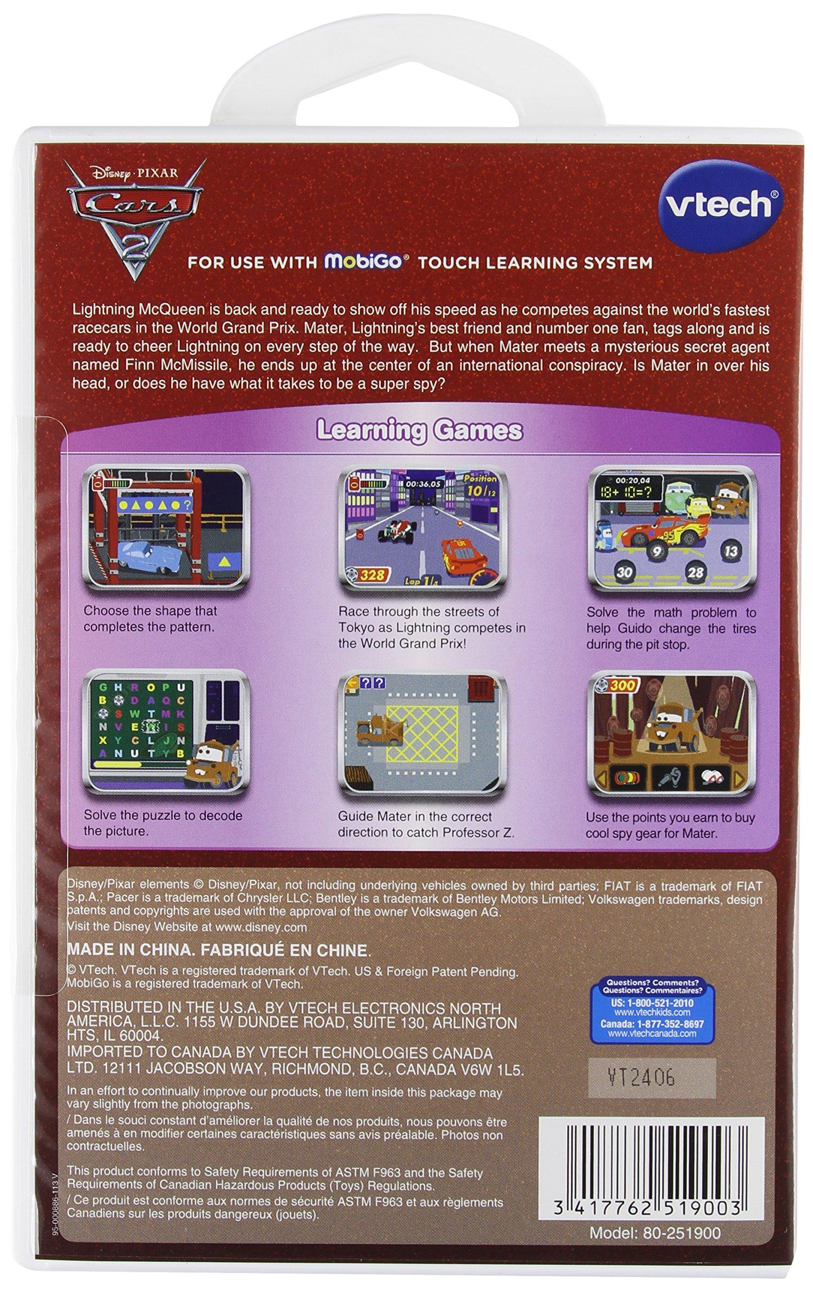 MobiGo Software Cartidge -- Cars 2 by VTech (Image #2)