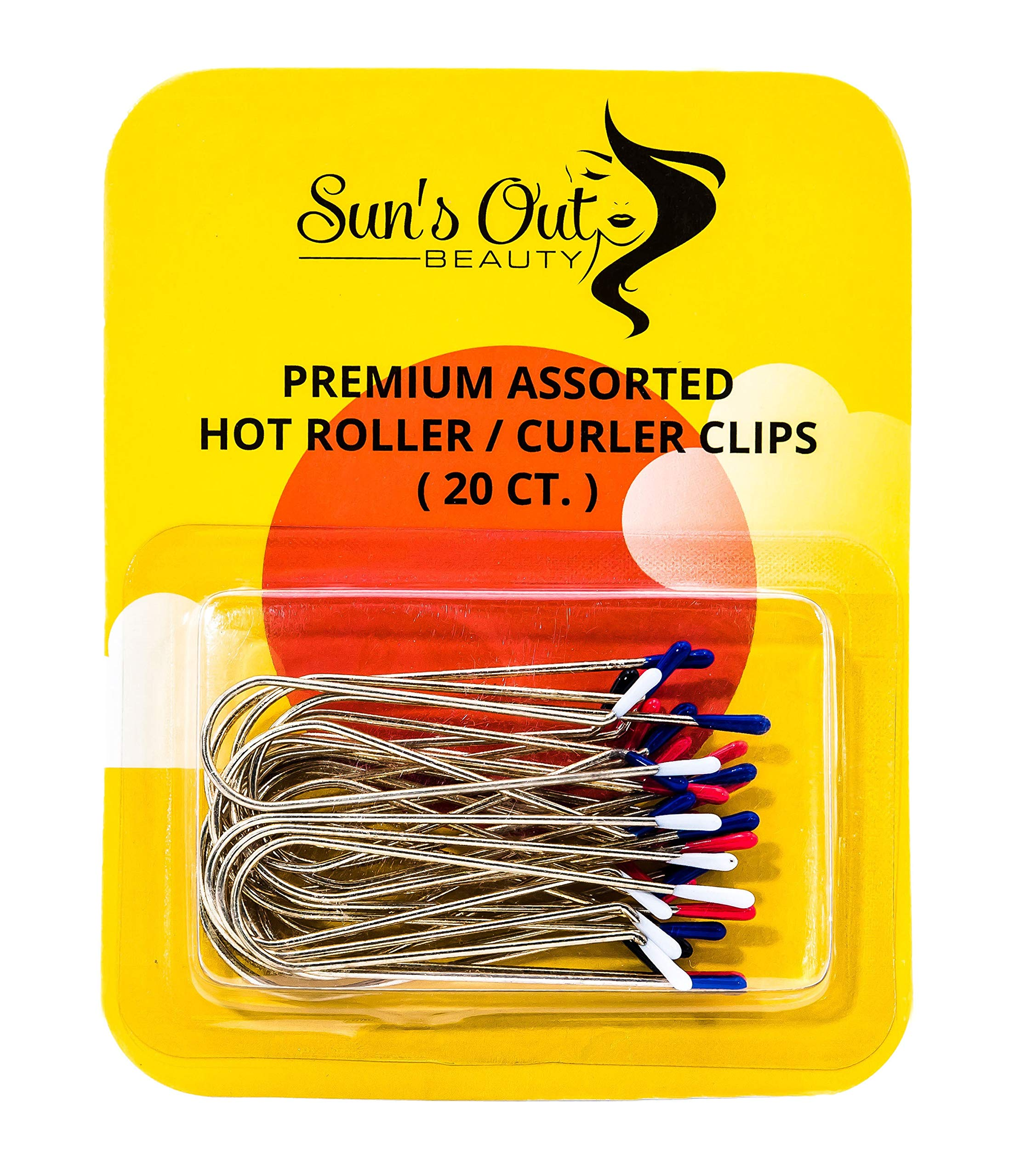 Sun's Out Beauty Premium Replacement Assorted Hot Roller Clips - Curler Clips - Regular Set (20 Count) by Sun's Out Beauty