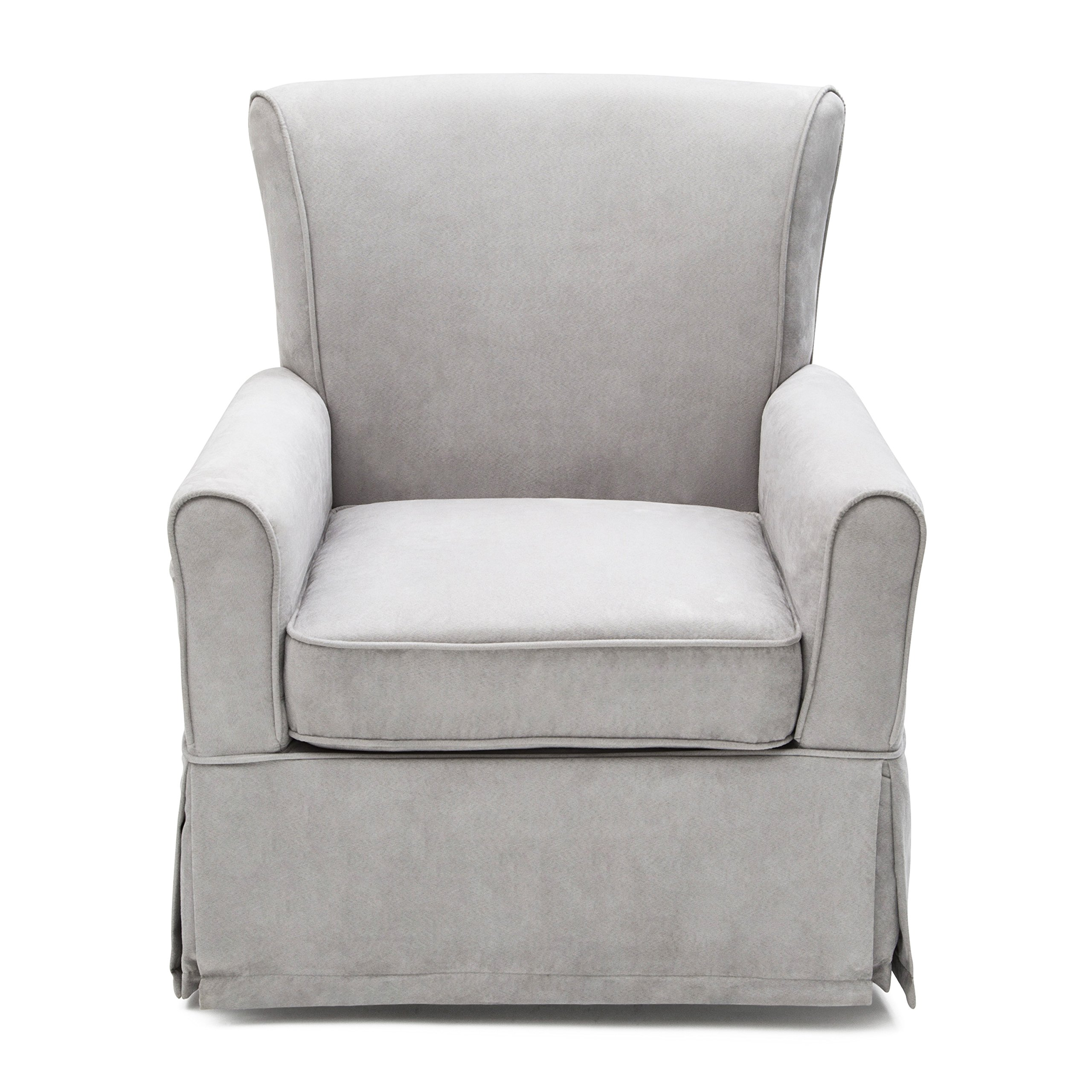 Delta Furniture Benbridge Upholstered Glider Swivel Rocker Chair, Dove Grey by Delta Furniture (Image #2)