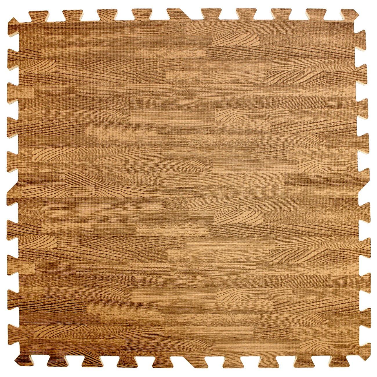 Sorbus Interlocking Floor Mat Print, Wood Grain - Light (6-Piece) by Sorbus (Image #9)
