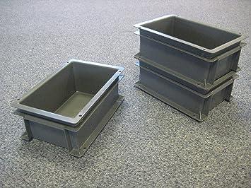 10 Neue Kunststoff Aufbewahrung Kisten Box Container 5L Grau