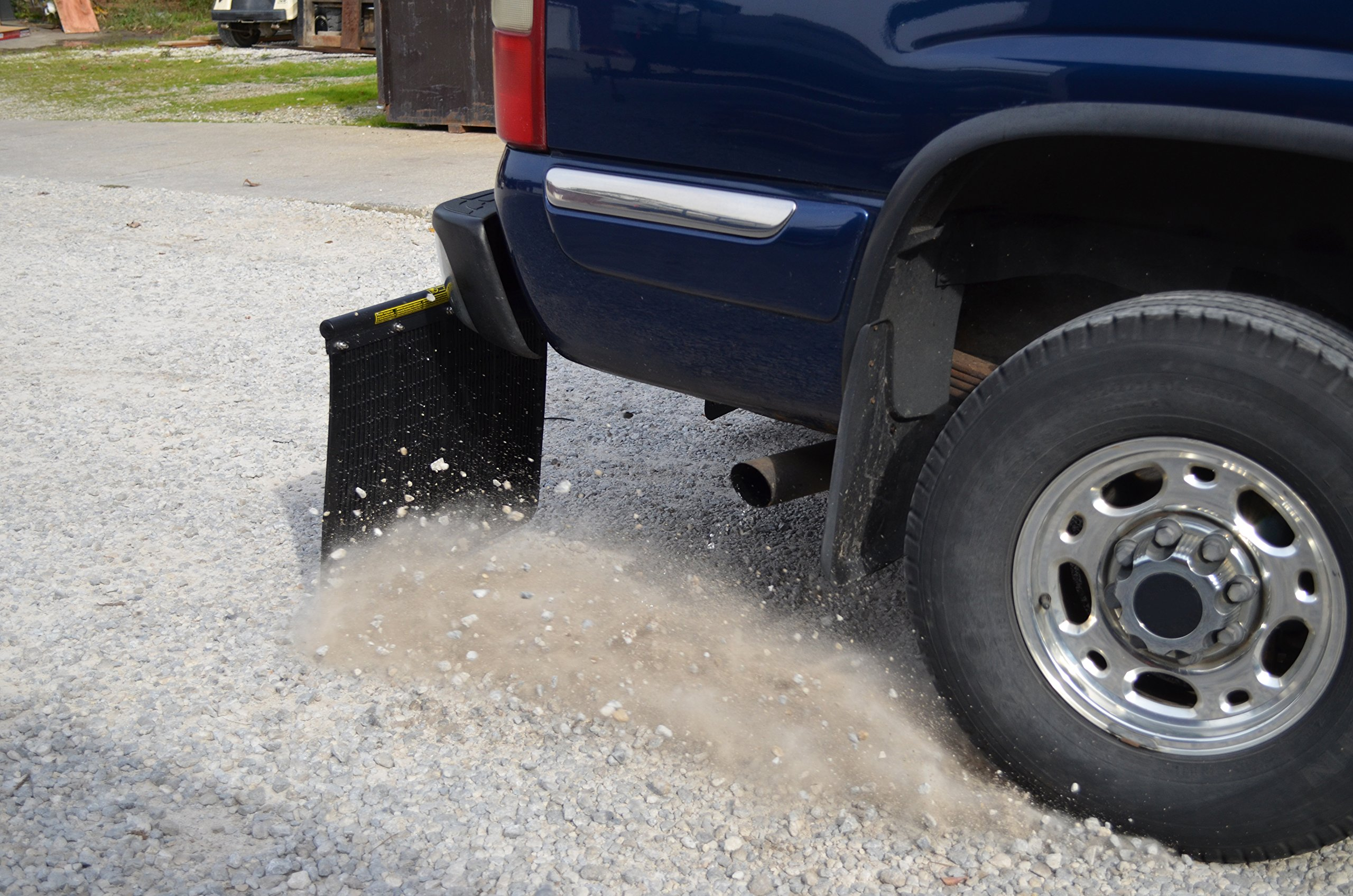 ROCK TAMERS (00110) 2.5'' Hub Mudflap System with Matte Black Stainless Steel Trim Plates by Rock Tamers (Image #7)