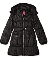 Pink Platinum Girls' Long Belted Puffer Jacket