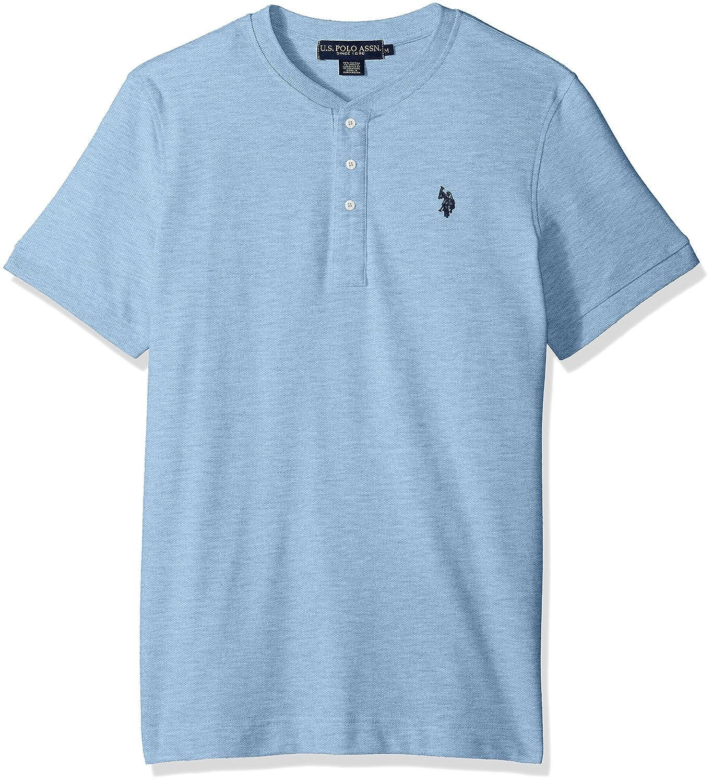 U.S. Polo Assn. Mens Standard Short Sleeve Henley Solid T-Shirt