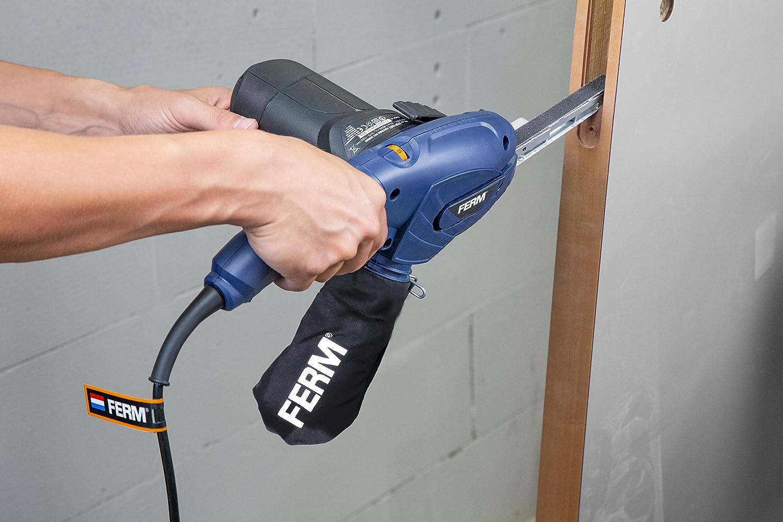 Variable Geschwindigkeit 3 Schleifarmen und 12 Schleifb/änder in einem robuster Aufbewahrungskoffe Inkl FERM Pr/äzisionsbandschleifer 400W