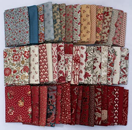 Fat Quarter Calico Vintage Brown Cotton Fabric