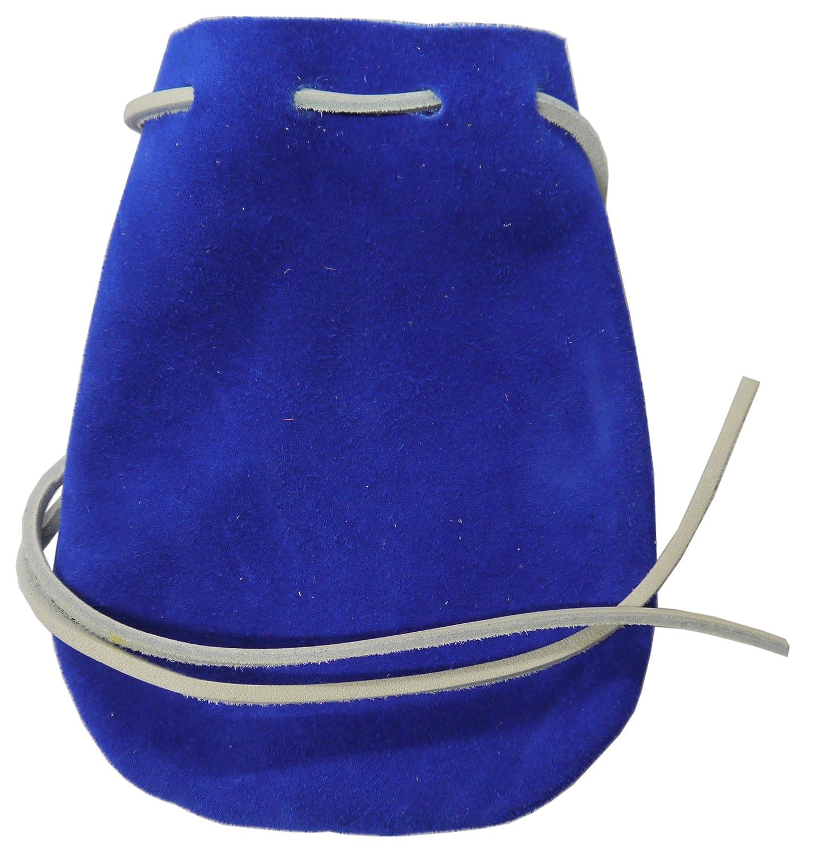Amazon.com: Royal Blue Suede bolsa de dados/mármol de piel 6 ...