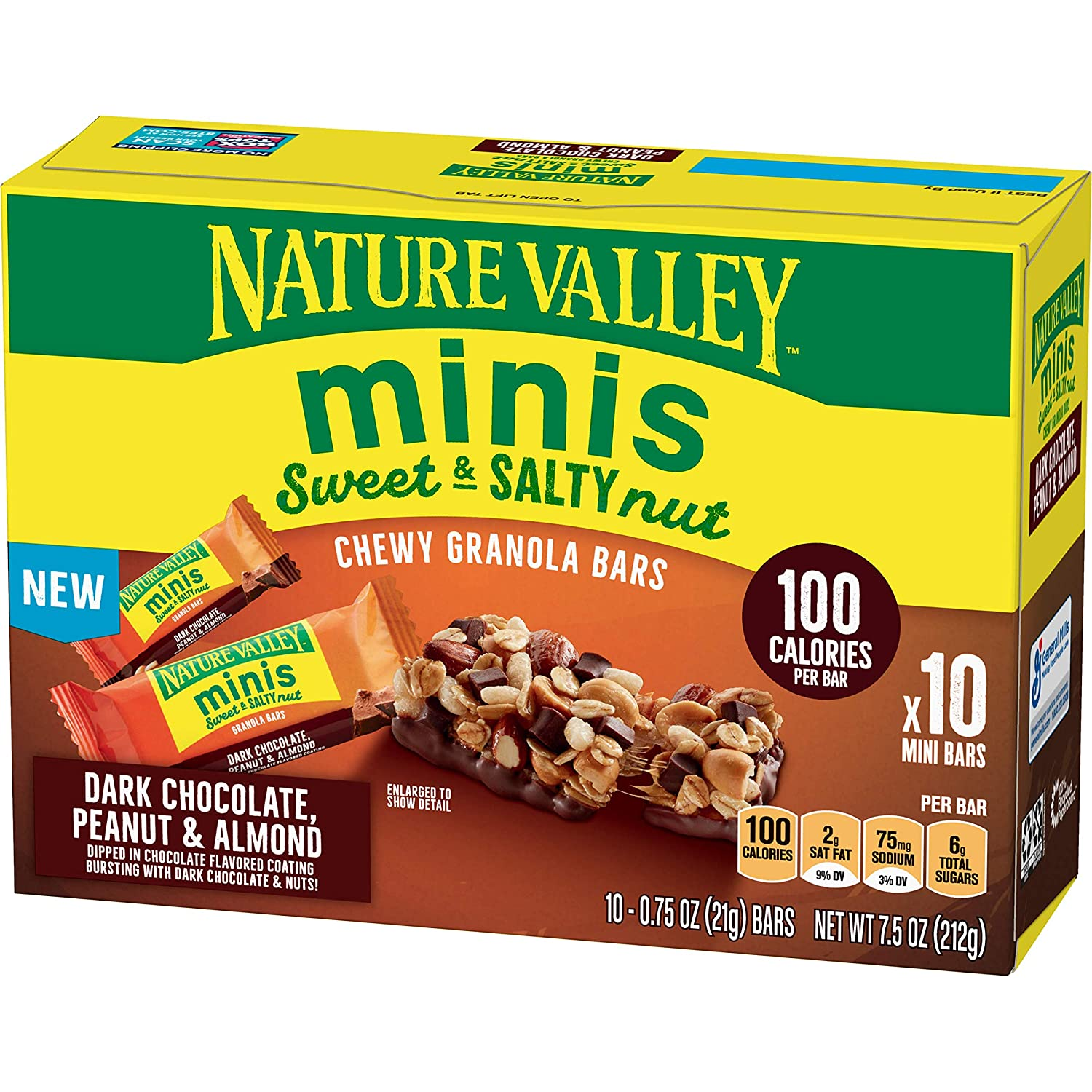Nature Valley Sweet & Salty Nut Minis, Dark Chocolate Peanut & Almond, 7.5 oz